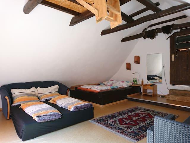 Gästezimmer - Bett und Schlafsofa