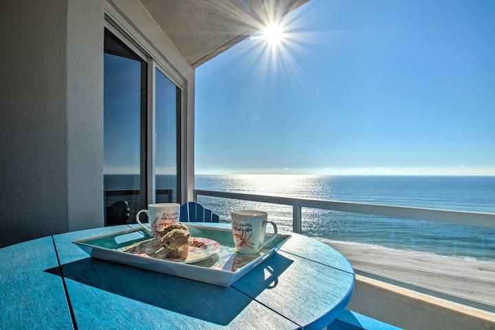 Condo w/ Ocean Views, Walk to Orange Beach On-Site