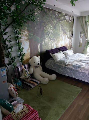 【2月特惠八折】CBD一线江景房钱江新城灯光秀森林主题房 - Hangzhou - Appartement