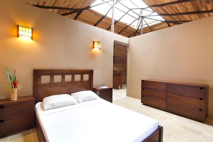 NATURA RESERVE Casa Luna main bedroom QUEEN bed (Room #5)