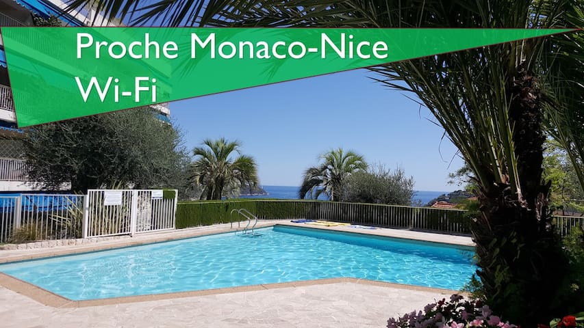 STUDIO WITH POOL NEAR MONACO-NICE - Villefranche-sur-Mer - Lejlighed