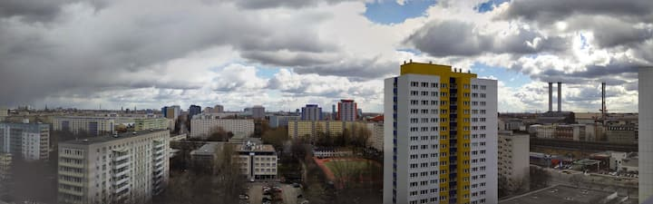 10th floor view over East Berlin's past