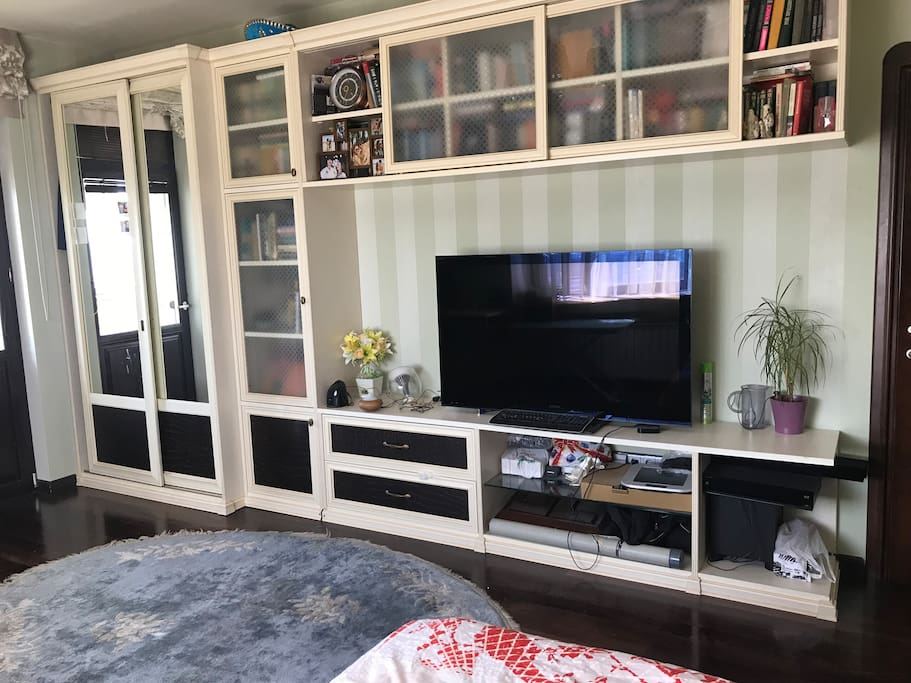 Furniture wall with TV