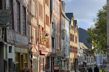 Unique view of Rouen and the Seine