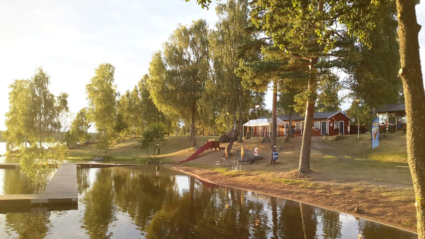 kleines, typisch schwedisches Ferienhaus - Smaland - Älghult