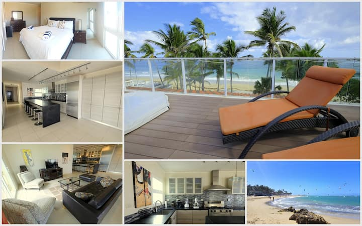 Beach Front Penthouse + Plunge-Pool + Free Wifi