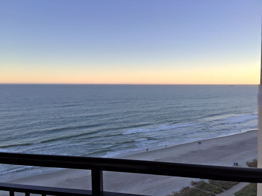 Beautiful oceanfront view from balcony.