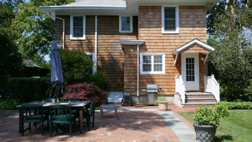 New Listing: Classic Clapboard Charmer 1 Block from Main Street, Family Gathering Inside & Out