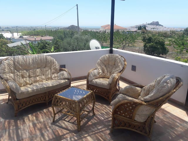 Roof terrace of main house (communal area)
