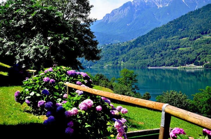 "Apartament ""Fiordaliso"" panoramic lake view - Tenna - Haus"