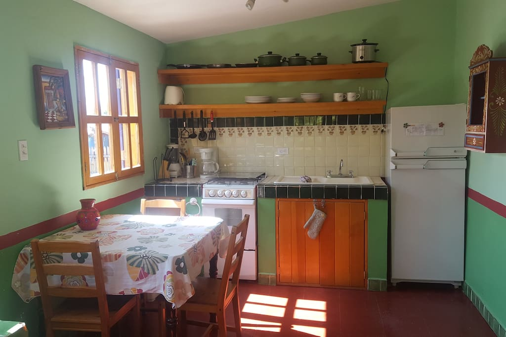 Our Fully Equipped Kitchen, you will find everything you need, including a coffee maker and margarita blender!