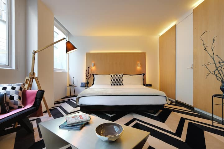Premier King room in an Iconic Design Hotel