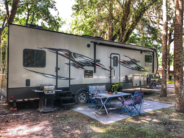 Private RV SITE on spring w dock~ Manatees~Scallop