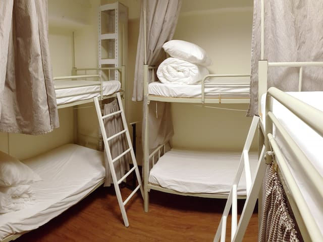 Female dorm room with 6 beds