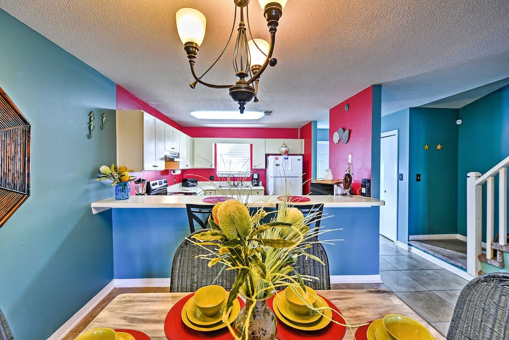 Vibrantly painted, you'll feel the energy pulsating throughout this home.