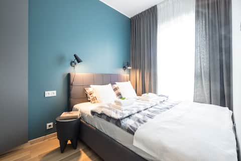 Exclusive apartment in Warsaw; free WiFi & parking
