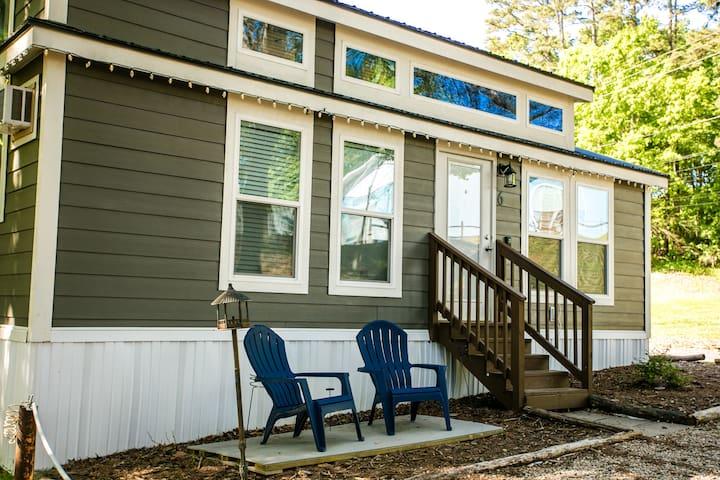 Lakefront Tiny House Entrace