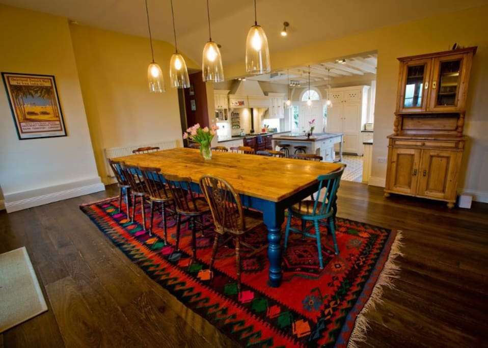 Farmhouse Kitchen with dining table