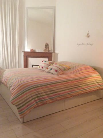 Superb Flat, 2min from the beach (Catalans, Pharo)