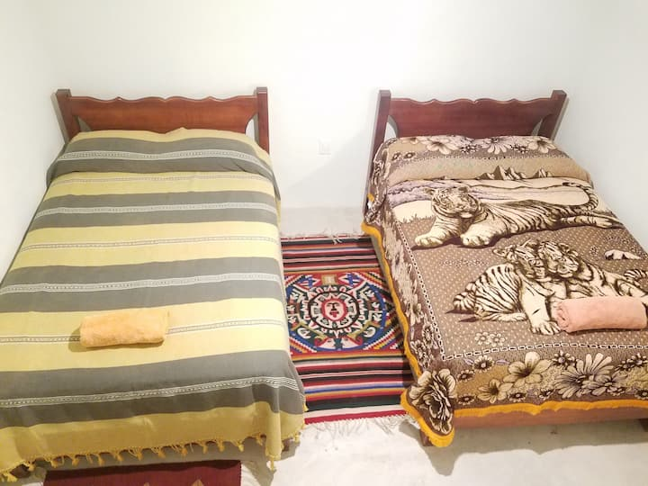 Xiguiea: comfy double beds in new house.