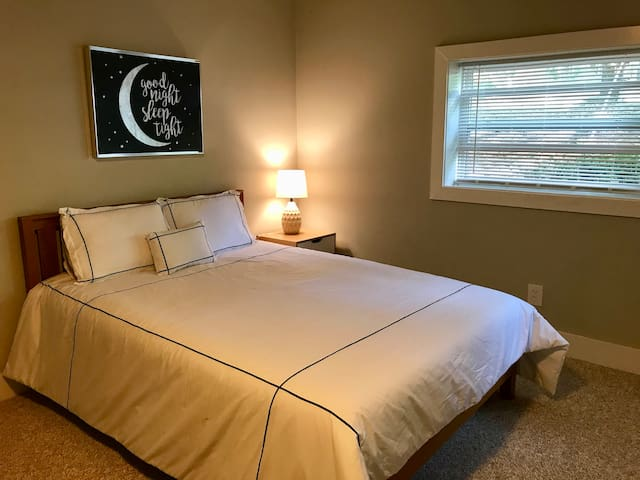 Master Bedroom downstairs with Queen Bed