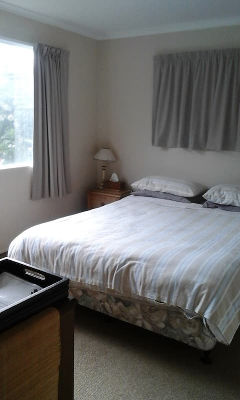 Double bedroom in Mt Maunganui House.