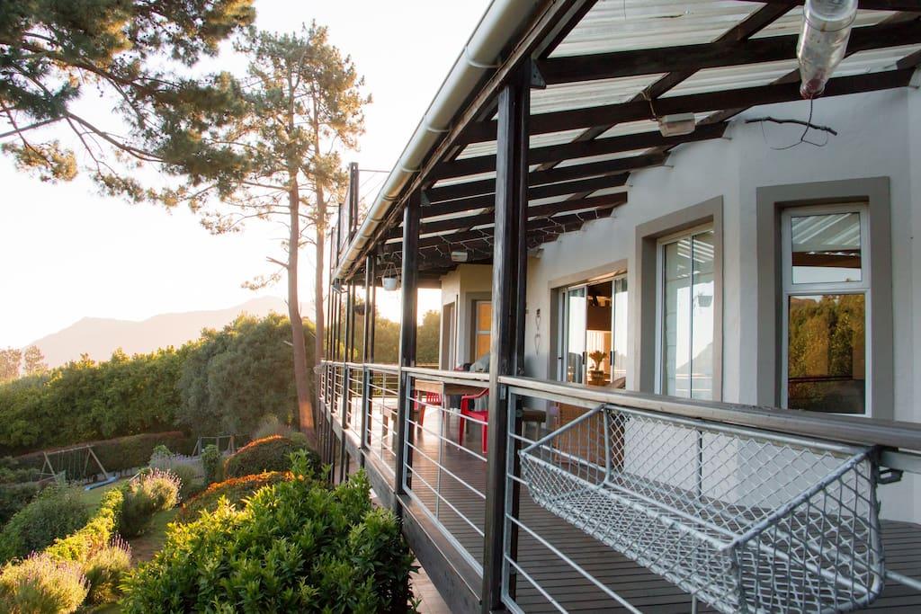 Wrap-around deck with breathtaking views