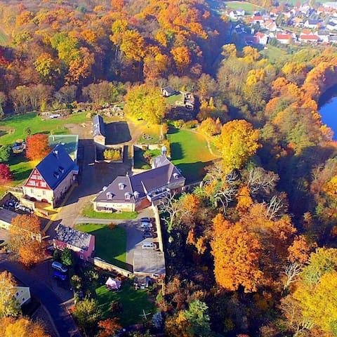 Urlaub am Schlosshof im Bergdorf Döben