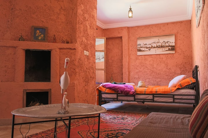 Riad Malak - Double Room with Pool & Mountain View