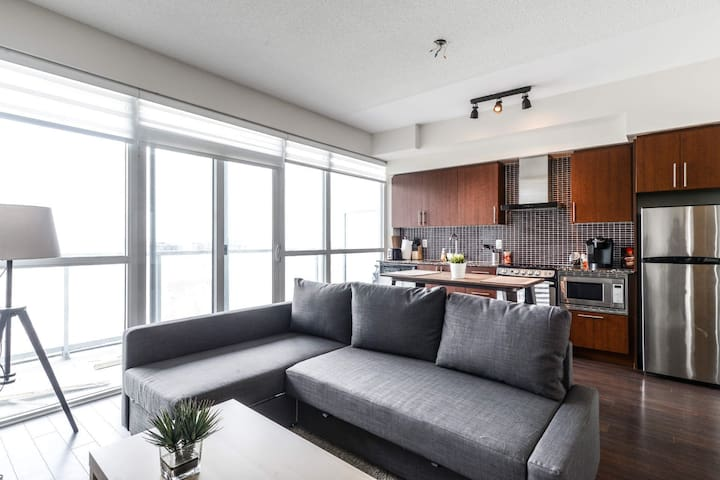 Modern 1 Bdrm Condo in the Entertainment District
