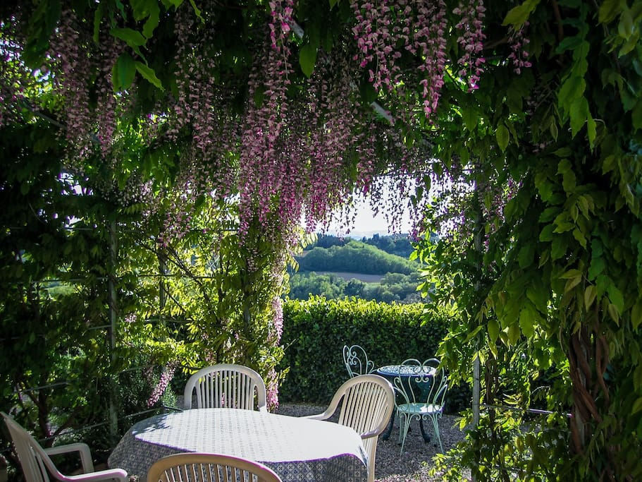 Private pergola with a beautiful view