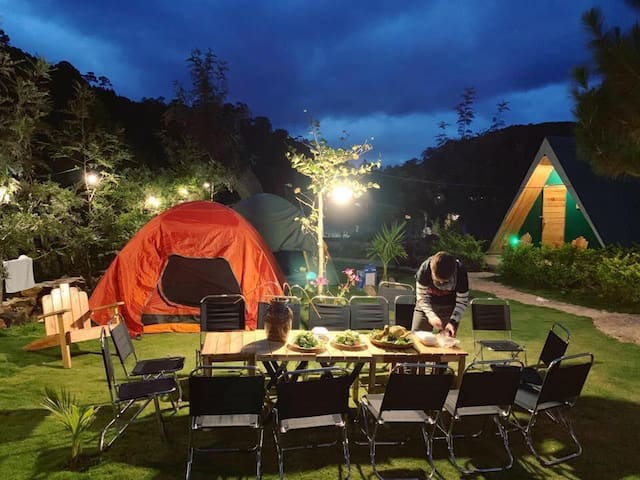 Tent for 2 guests -Ankroet Camp Da Lat City