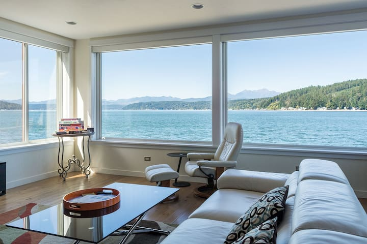Luxury Lookout Hood Canal Vacation Rental: Bottom Floor