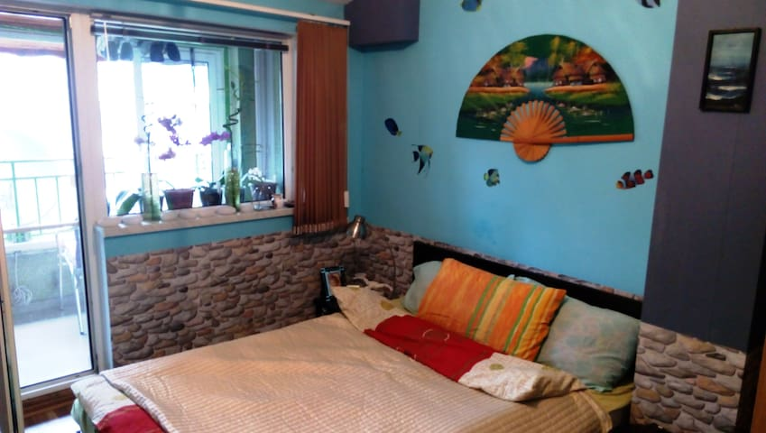 Private room in central apartment - Varna