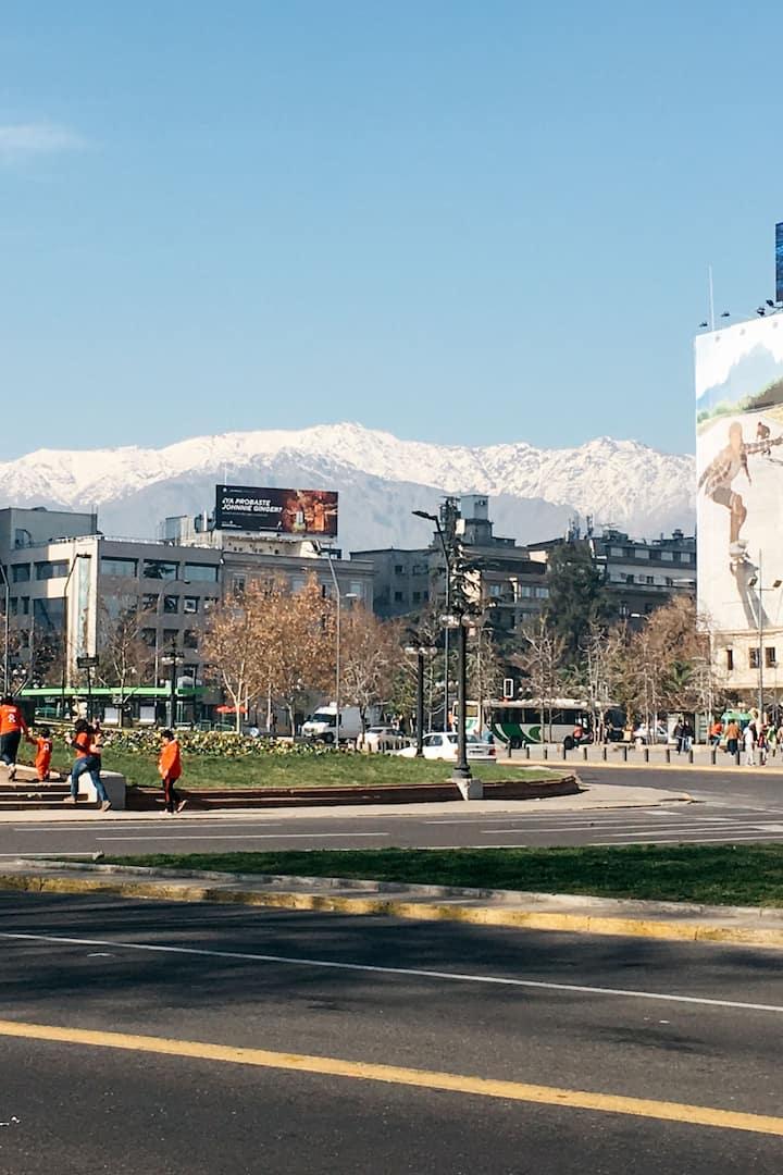 Plaza Italia, punto de encuentro