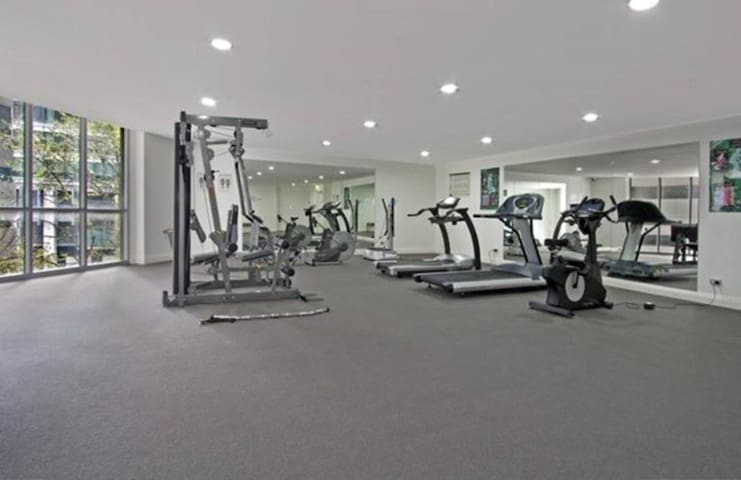 Gym room within the building