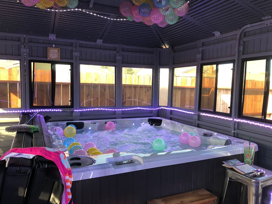 Enjoy luxury jacuzzi with reclining seat and 88 jets
