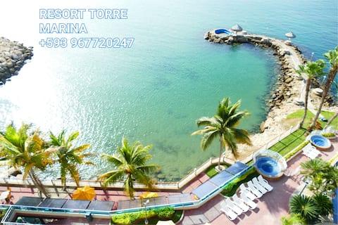 High Ocean View Resort Torre Marina 10 Min Salinas