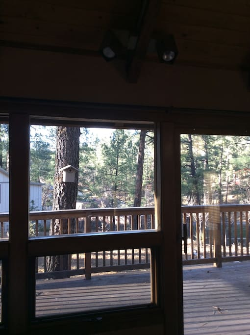 Looking out from bedroom to deck