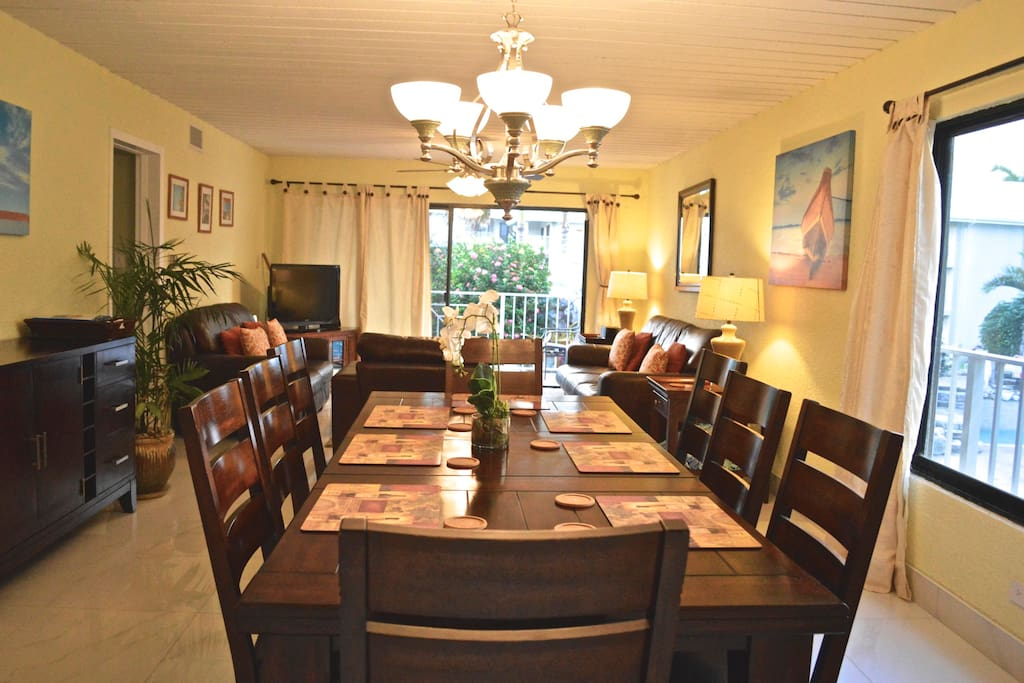 Dining table for eight