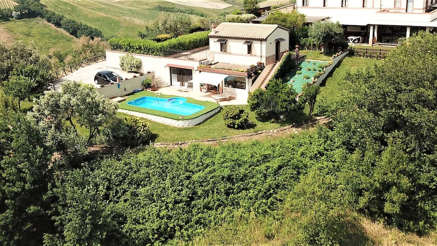 Villa Sole is dominating Valleys and Hills  till Adriatic sea and Apennine mountains