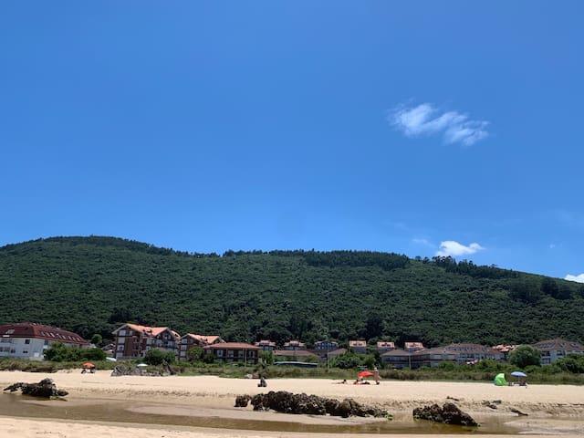 Helgueras, a pie de playa