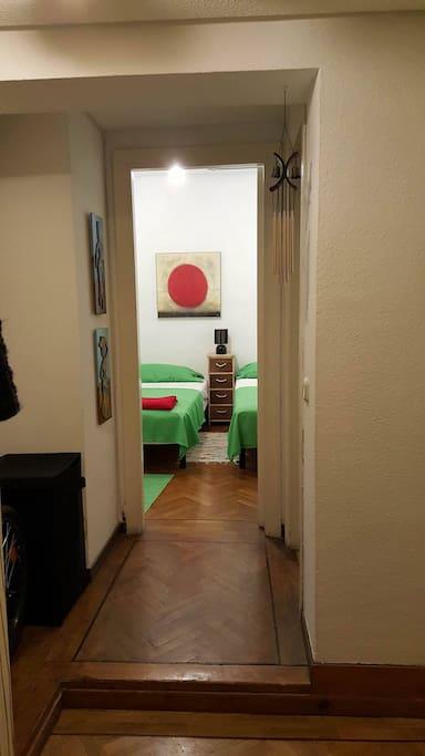 Habitacion desde el pasillo