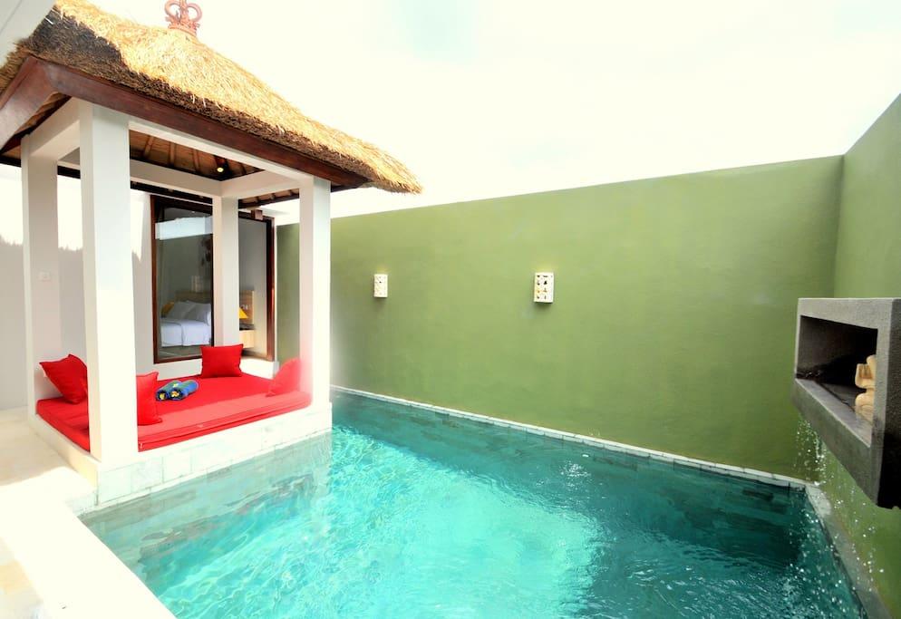Private Two Bedroom Pool Villa In Seminyak Villas For Rent In Kuta Bali Indonesia
