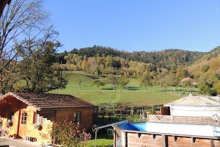Cabane Chalet bain bouillonnant - Mitzach - Бунгало