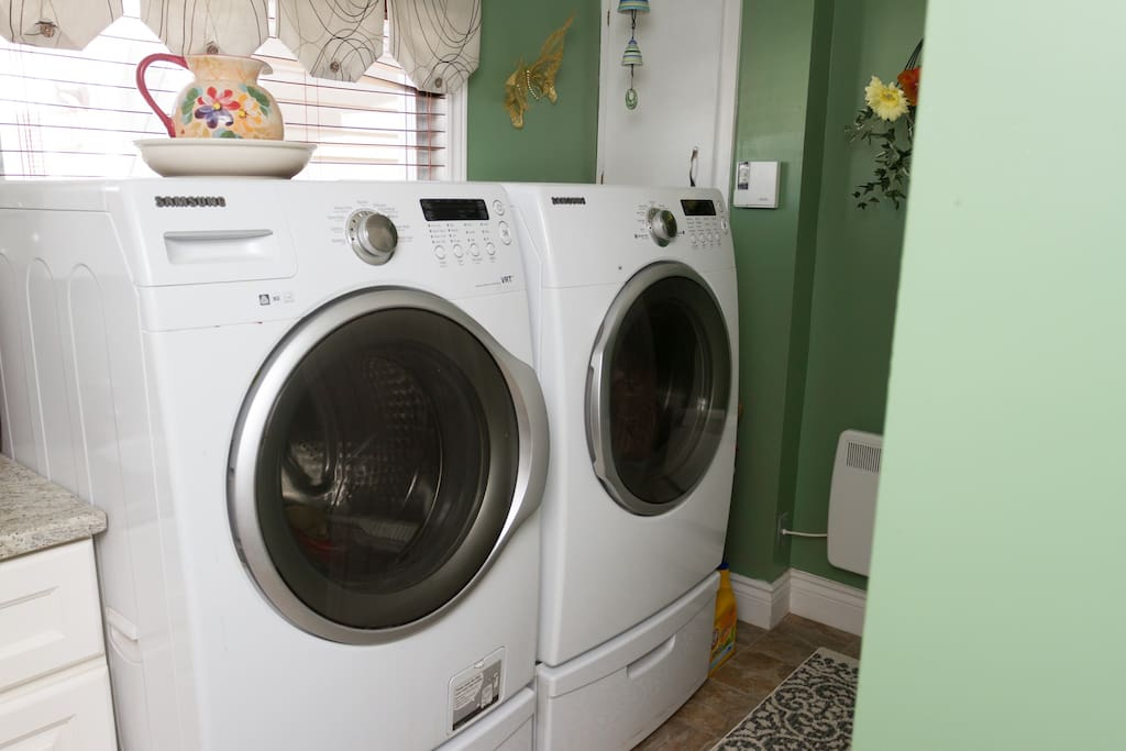 washer and dryer, detergent provided