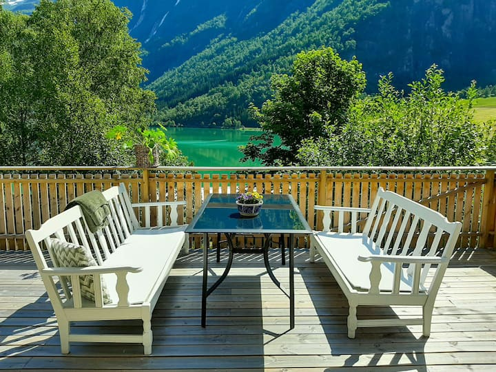 Apartment with big terrace, Skjolden