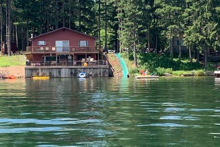 Lakehouse w/full rec lake, near ski & snowmobiling