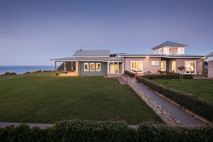 Luxury farmhouse, ocean views, private beach