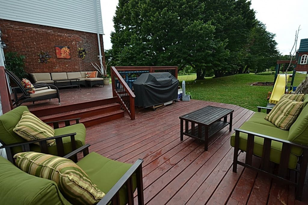 a deck area that guests can use